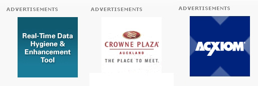 3 Examples of Ads on the Marketing Association of NZ Website